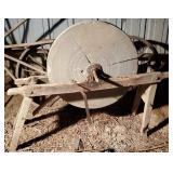 Antique stone grinder wheel.