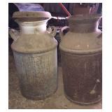 2 Antique Milk Cans