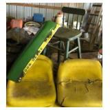 John Deere Seats, Hood + a stool