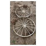 44in Metal Wheel Decorations