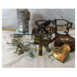 Brass Stands, Light & Shot Glasses