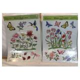 9 Ganz Window Clings Butterflies, Humming Birds &