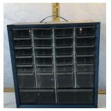 Metal Organizer with Plastic Drawers