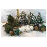 Christmas Village Scene Trees
