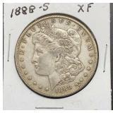 1888 S XF Morgan Silver Dollar