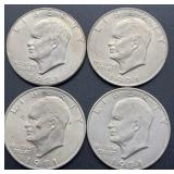 4 - 1971 D Eisenhower Dollars