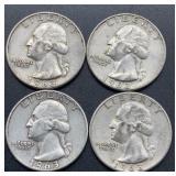 3 - 1963 D & 1 - 1963 Washington Quarters