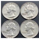 4 - 1964 D Washington Quarters