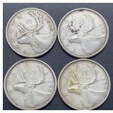 4 Canada 25 Cent Pieces