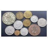 Variety Of Foreign Coins