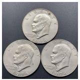 3 - 1974 Eisenhower Dollars