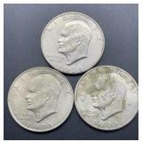 3 - 1971 D Eisenhower Dollars