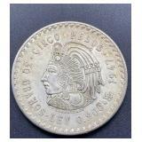 1947 Cinco Pesos 30 Gramos Ley 0.900