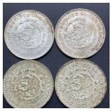 4 Estados Unidos Mexicanos Un Peso Coins