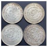 4 - 1962 Estados Unidos Mexicanos Un Peso Coins