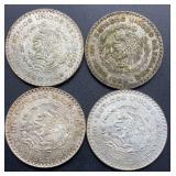 4 - 1963 Estados Unidos Mexicanos Un Peso Coins