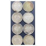8 - Mexico 10 Centavos Coins