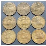 9 - Mexico 20 Centavos Coins
