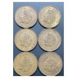 6 - Mexico Cincuenta Centavos Coins