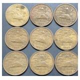 9 - 1944 Mexico 20 Centavos Coins