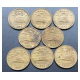 8 Mexico 20 Centavos Coins