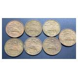 7 - 1969 Mexico 20 Centavos Coins