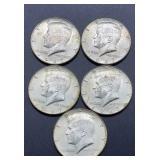 5 - 1967 Kennedy Half Dollars
