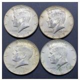 4 - 1967 Kennedy Half Dollars