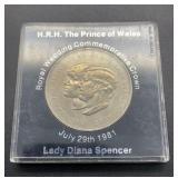 July 9, 1981 Royal Wedding Commemorative Coin