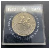 1952-1957 Queen Elizabeth II Silver Jubilee Crown