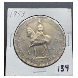 1953 Elizabeth 5 Shillings Coin