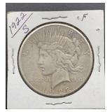1922 S F Peace Silver Dollar