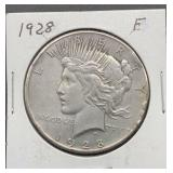 1928 F Peace Silver Dollar