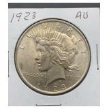 1923 AU Peace Silver Dollar