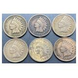 6 - 1906 Indian Head Cents