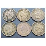 6 - 1907 Indian Head Cents
