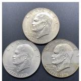 3 - 1776-1976 Eisenhower Dollars