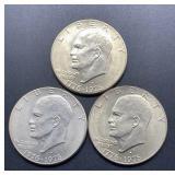 3 - 1776-1976 D Eisenhower Dollars