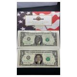 2014 Presidential Election One Dollar Bills