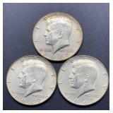 3 - 1967 Kennedy Half Dollars