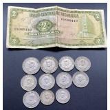Republica De Nicaragua Coins & Bill