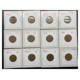 8 - 1919, 2 - 1919 D, 2 - 1919 S Wheat Pennies