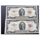 2 - Series 1953 A $2 U.S. Note