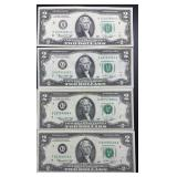 4 - Series 1976 $2 Federal Reserve Notes