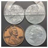 4 Large Commemorative Token Coins