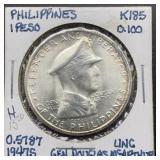 1947 S Philippines 1 Peso UNC