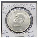 1969 BU India 10 Rupees