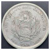 1894 Republica Del Salvador Un Peso