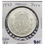 1943 GEM BU Mexico Peso