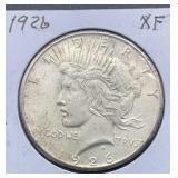 1926 XF Peace Silver Dollar